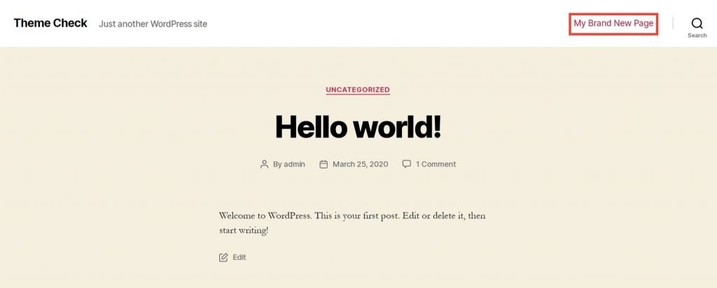 Front-end Page
