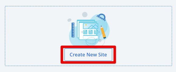 Bluehost Create New SIte