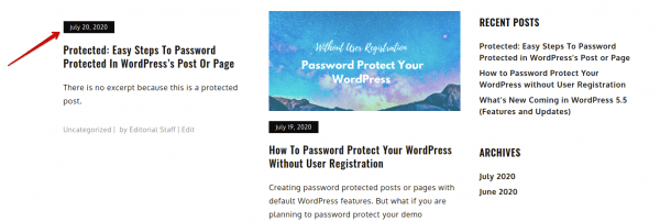 protected prefix after password protected